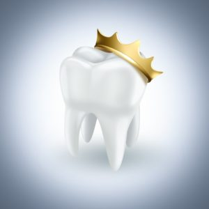 tooth with royal crown